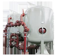 culligan hi-flo sistema filtri multistrato trattamento acqua industriale