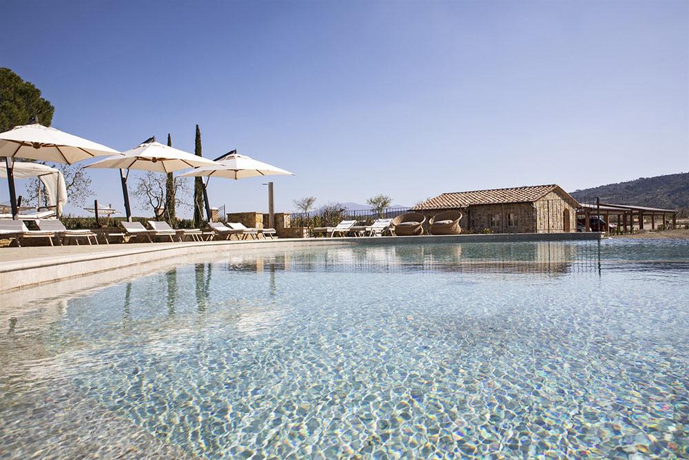 Piscina panoramica Toscana